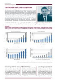 Derivateeinsatz für Pensionskassen - c-alm