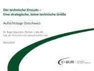 Der technische Zinssatz - c-alm