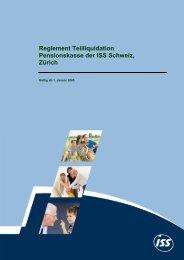 Reglement Teilliquidation Pensionskasse der ISS Schweiz, Zürich