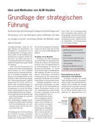 Grundlage der strategischen Führung - c-alm