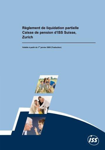 Règlement de liquidation partielle valable à partir du 01.01.2005