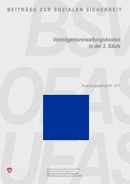 """Studie """"Vermögensverwaltungskosten in der 2. Säule"""" - ASIP"""