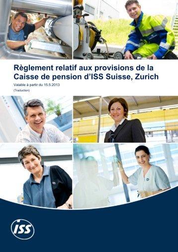 Règlement relatif aux provisions valable à partir du 15.05.2013