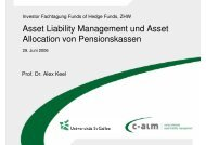 Asset Liability Management und Asset Allocation von ... - c-alm