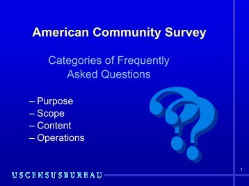 American Community Survey PowerPoint Presentation
