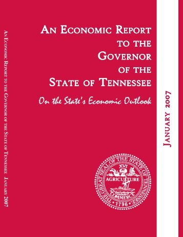 An Economic Report to the Governor of the State of Tennessee ...