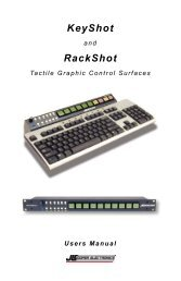 KeyShot and RackShot Users Manual - JLCooper Electronics