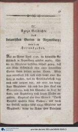 Kurze Geschichte botanischen Garten in Regensburg;