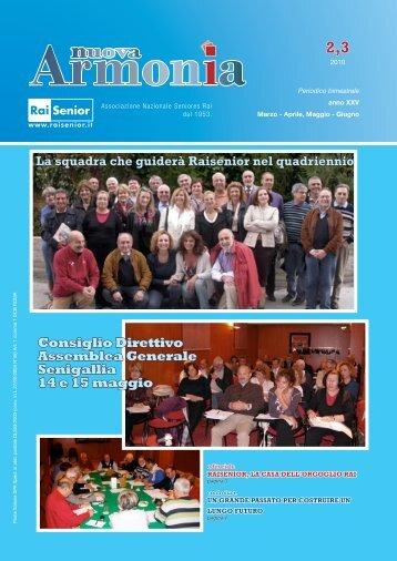 Armonia secondo e terzo numero anno 2010.
