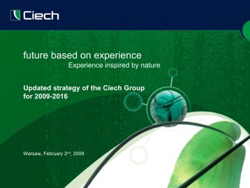 future based on experience - Ciech
