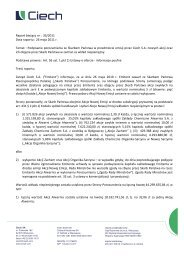 Raport bieżący nr : 35/2011 Data raportu : 26 maja 2011 r ... - Ciech