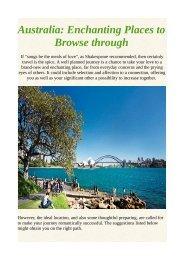 Australia: Enchanting Places to Browse through