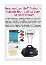 Personalized Golf Add-on - Placing Your Call on Your Golf Accessories