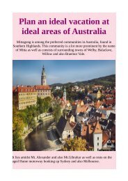 Plan an ideal vacation at ideal areas of Australia