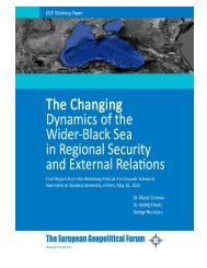 Changing Dynamics of the Wider Black Sea - The European ...