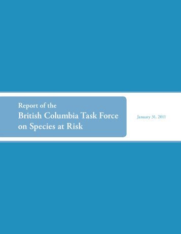 British Columbia Task Force on Species at Risk