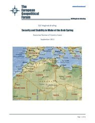 READ MORE - The European Geopolitical Forum