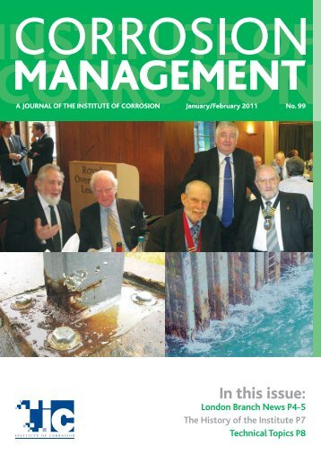 In this issue: - the Institute of Corrosion