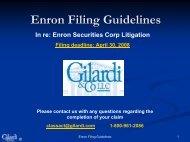 Filing a Claim - The ENRON Fraud