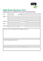 application form - Bowel Cancer UK