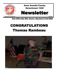 Newsletter - Marine Corps League: Anne Arundel County ...