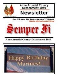 November - Marine Corps League: Anne Arundel County ...