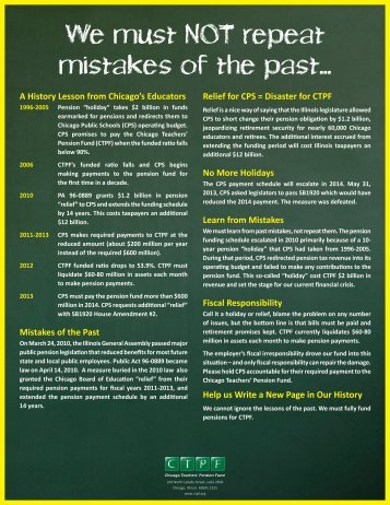 Mistakes of the Past - Public School Teachers' Pension and ...