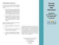 Survivor Benefits After Retirement - OCERS