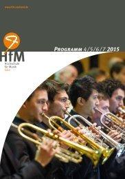 Programm Sommersemester 2015