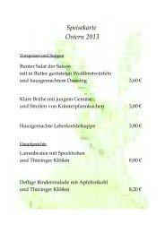Speisekarte Ostern 2013 - Zum Steinbruch