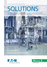 Exportable Automation Solutions - Moeller