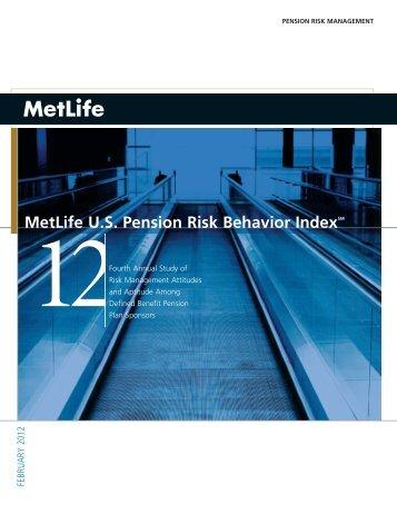 metLife U.s. pension risk Behavior indexsm
