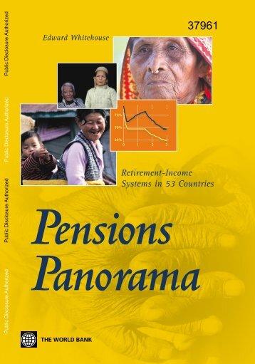 pensions panorama - World Bank