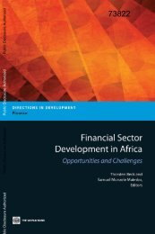 Financial Sector Development in Africa: Opportunities ... - World Bank