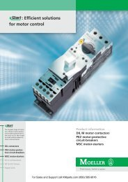 xStart: Efficient solutions for motor control - Klockner Moeller Parts