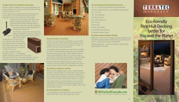 Eco-friendly Rice Hull Decking better for You and the ... - terratec.info