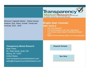 Electronic Cigarette Market Report Analysis-Transparency Market Research
