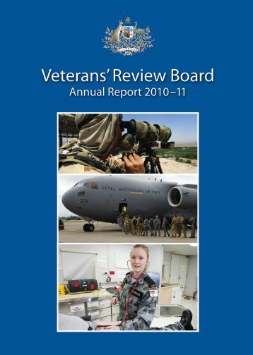 VRB Annual Report 2010-11 - Veterans' Review Board