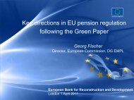 Key directions in EU pension policies - APAPR