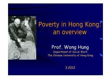 Poverty in Hong Kong - hcyuen@swk.cuhk.edu.hk - The Chinese ...