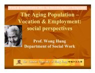 The Aging Population - hcyuen@swk.cuhk.edu.hk