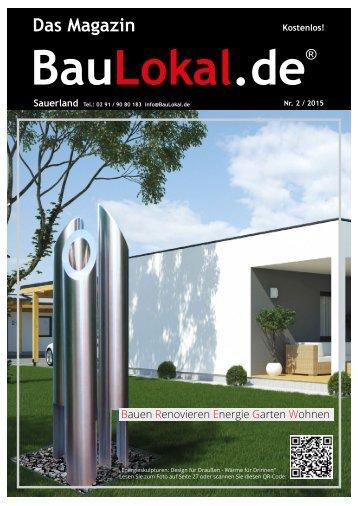 BauLokal.de - das Magazin Ausgabe Sauerland 02/2015
