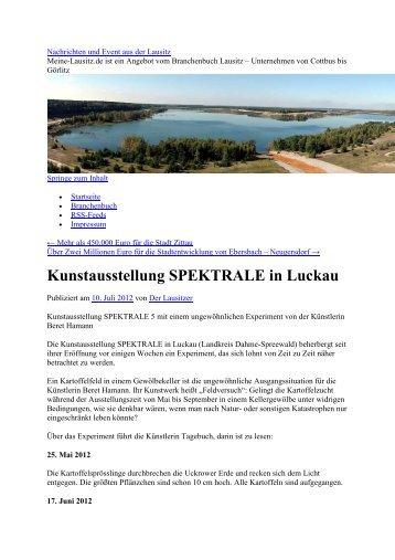 Kunstausstellung SPEKTRALE in Luckau - Spektrale Dahme ...