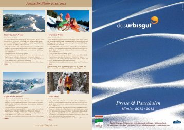 Winterpreisliste zum Download 2013 - Das Urbisgut