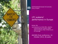 Evaluating Long-term Care system performance in Europe
