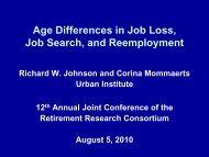 Slides - Michigan Retirement Research Center