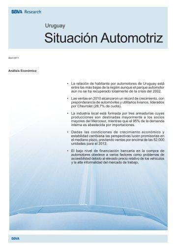 Situación Automotriz Uruguay 2011 - BBVA Research