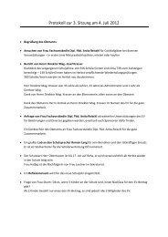 Protokoll zur 3. Sitzung am 4. Juli 2012