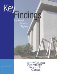 on Social Security Reform - Michigan Retirement Research Center