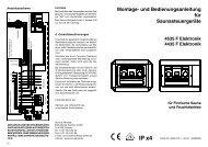 Montage- und Bedienungsanleitung für Saunasteuergeräte - Sentjens